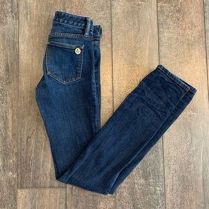 Tory Burch Super Skinny Jeans w/ Gold Hardware